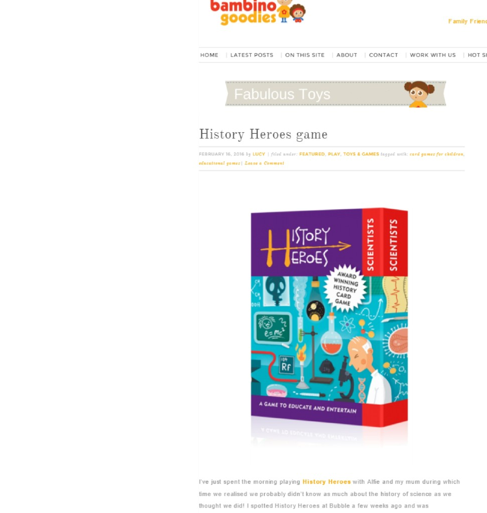 History Heroes reviewed by Bambino Goodies