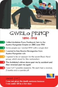 gavrilo princip, world war 1, serbian nationalist, black hand, archduke franz ferdinand, card game, educational games, facts for children
