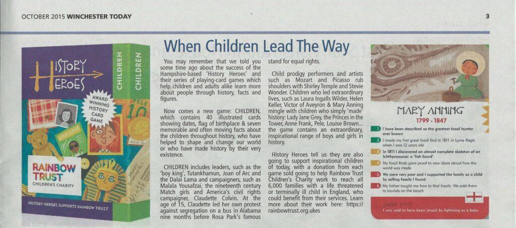 History Heroes: CHILDREN
