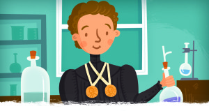 Marie Curie: the 1st PERSON to win 2 Nobel Prizes