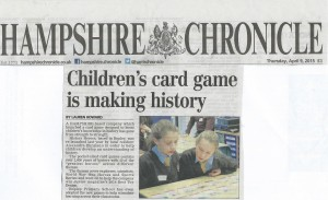 History Heroes card games in the news
