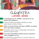 Cleopatra, women in history, history heroes, card game
