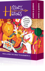 History Heroes KINGS & QUEENS - fun family quiz card card game