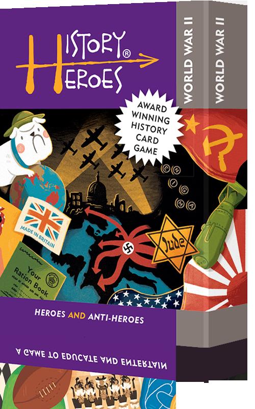 History Heroes: WORLD WAR 2 - Educational card games