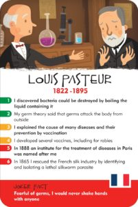 Louis Pasteur in History Heroes' SCIENTISTS card game