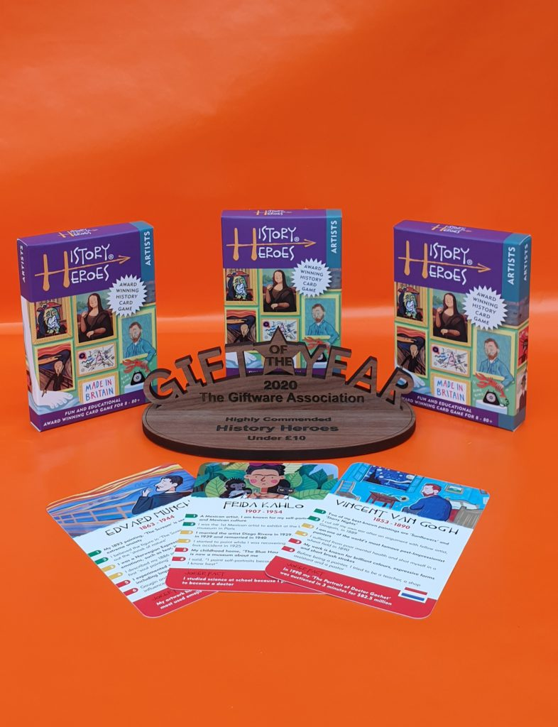 History Heroes, artists family game
