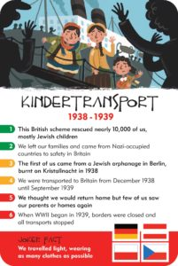 kindertransport history heroes world war two card game
