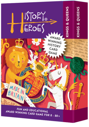 History Heroes Kings & Queens - a fun family quiz card game