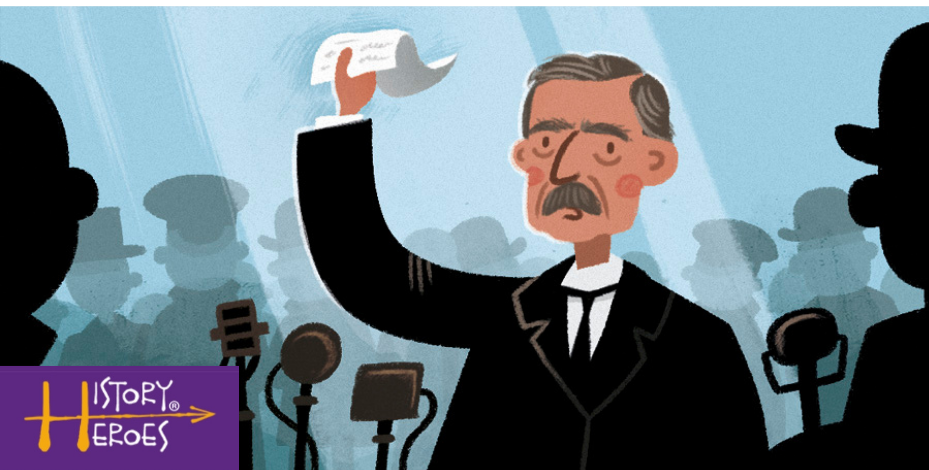 History Heroes Neville Chamberlain, World war two facts game