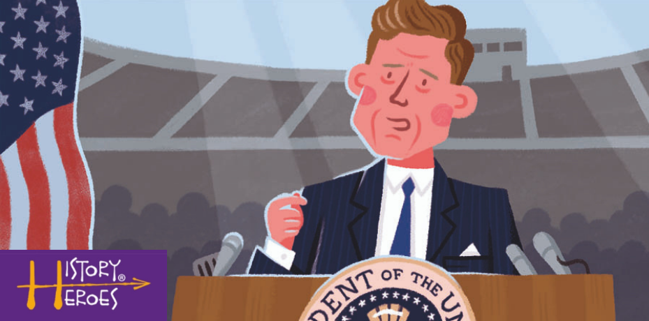 History Heroes J F Kennedy, US President, educational card games