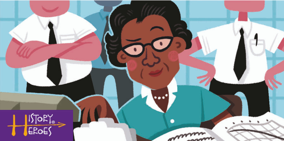History Heroes Katherine Johnson, space card game, history of space