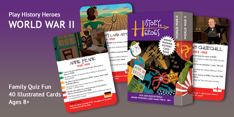 History Heroes World War Two card game