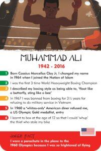 History Heroes: Muhammad Ali card
